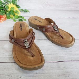 Minnetonka   Silverthorne Wedge Western Sandal